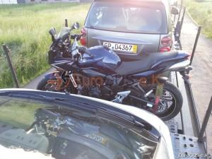 Motorradüberführung , motorrad
