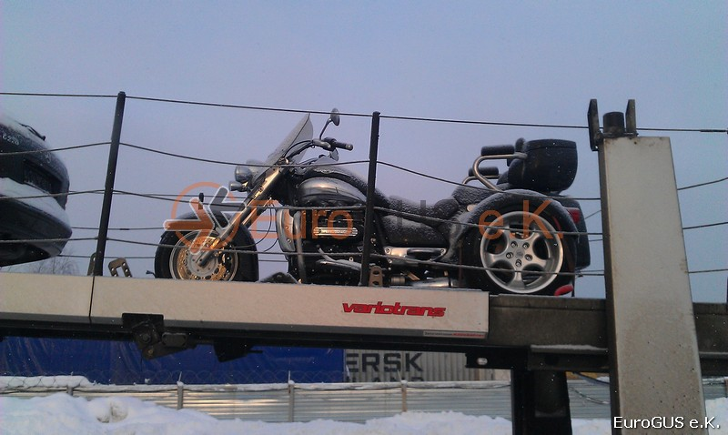 Motorradüberführung, Spedition Russland