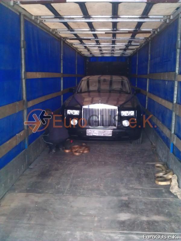 Fahrzeugüberführung, Luxusauto, Spedition Russland