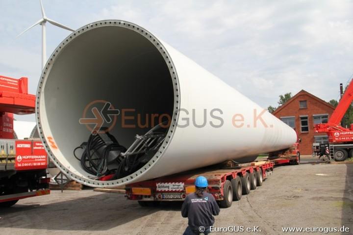 Windkraftanlage Sondertransport Russland Kasachstan