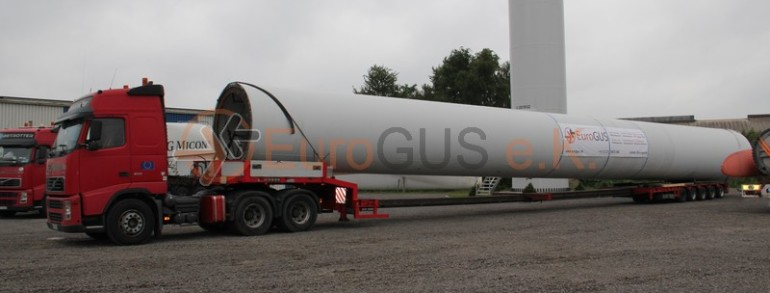 Transport of NEG Micon wind turbines to Kazakhstan