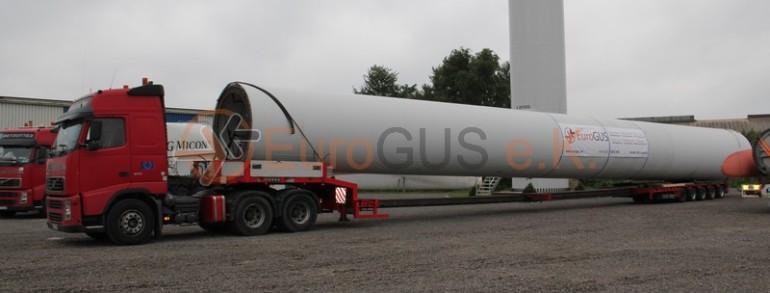 Transport of NEG Micon wind turbines to Kazakhstan