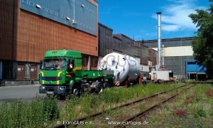 Oversized transports of silos with a special transport