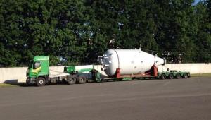 Oversized transports of silos