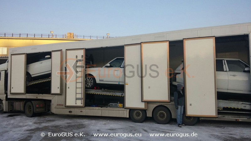 Car Transporter 2015 to Russia from Germany and EU